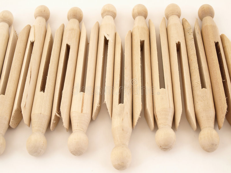 clothespins фасонировали старую стоковое фото