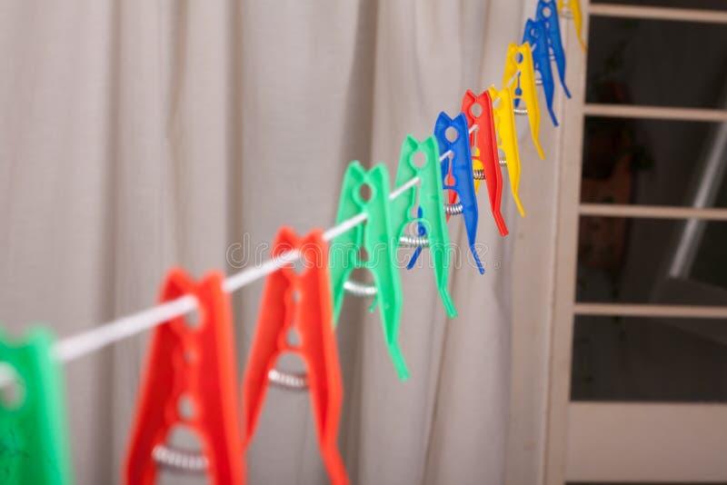 clothespins royalty-vrije stock afbeeldingen