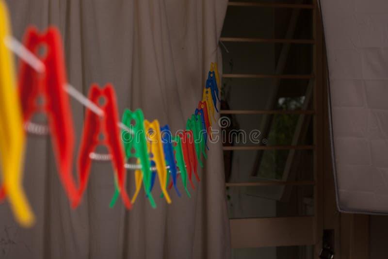 clothespins royalty-vrije stock foto