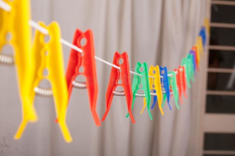 clothespins stock fotografie