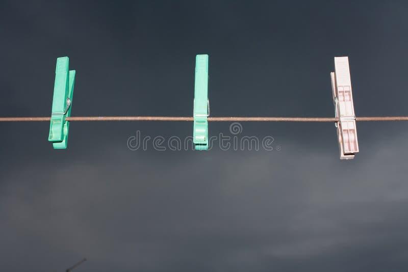 clothespins стоковое изображение