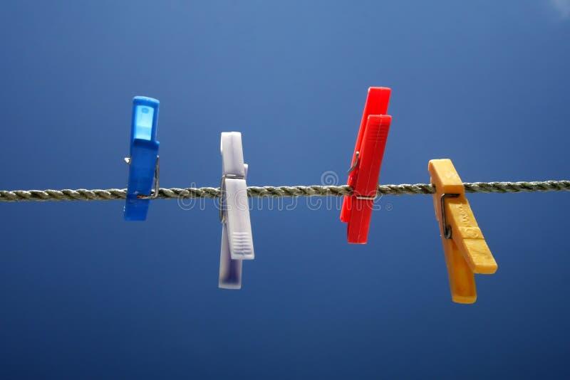 Clothespins coloridos imagens de stock royalty free