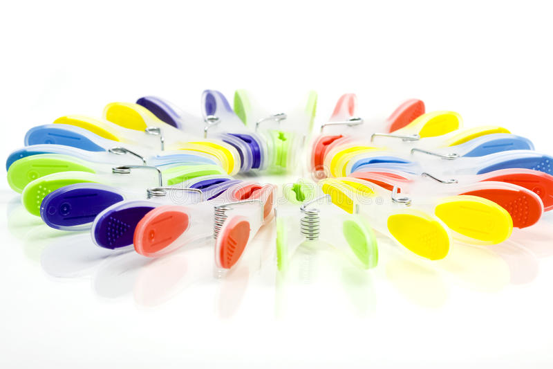 Clothespins Colourful   immagine stock