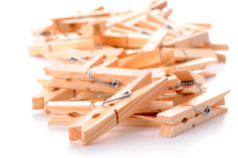 clothespins drewniani obrazy stock