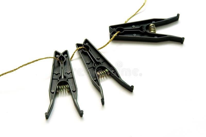 clothespins linen стоковая фотография