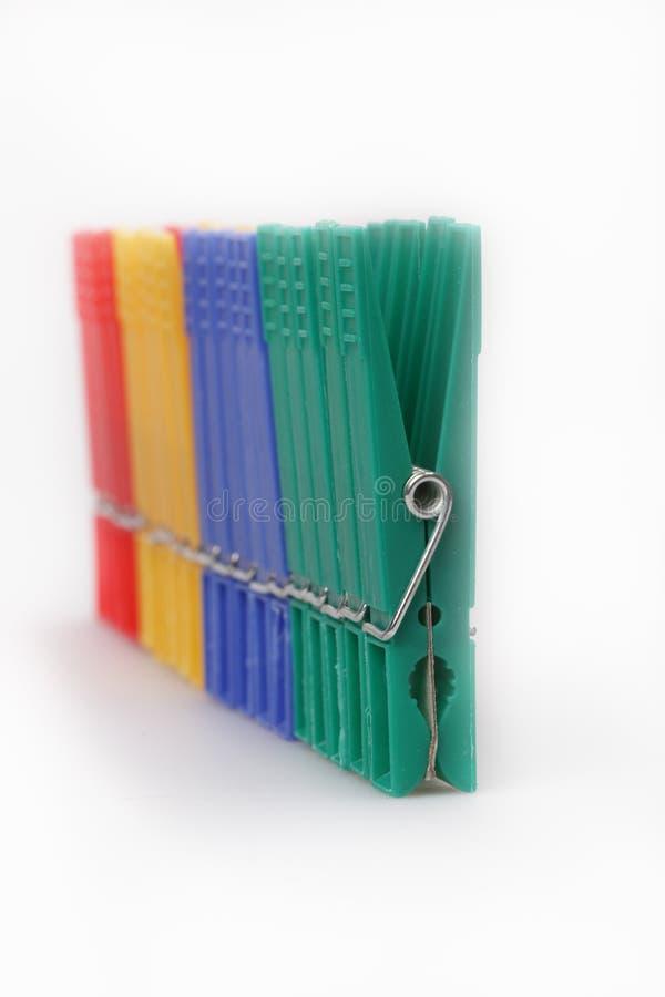 Clothespins Multi-coloured fotografia stock libera da diritti