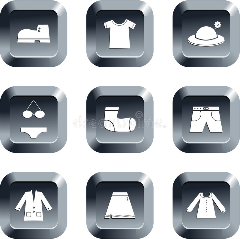 Clothing buttons royalty free illustration