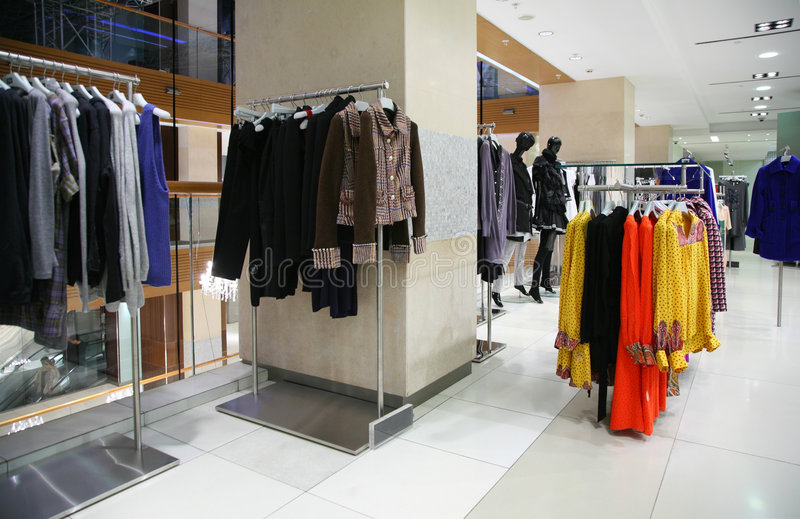 Download Clothing department stock photo. Image of fashion, mall - 8632896