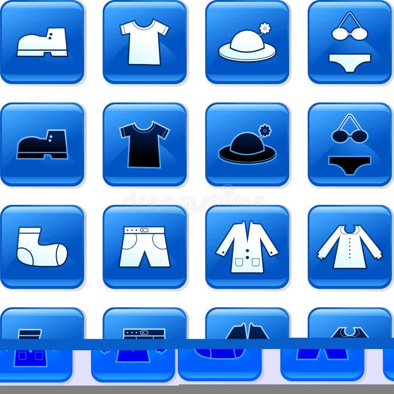 clothing för knappar vektor illustrationer