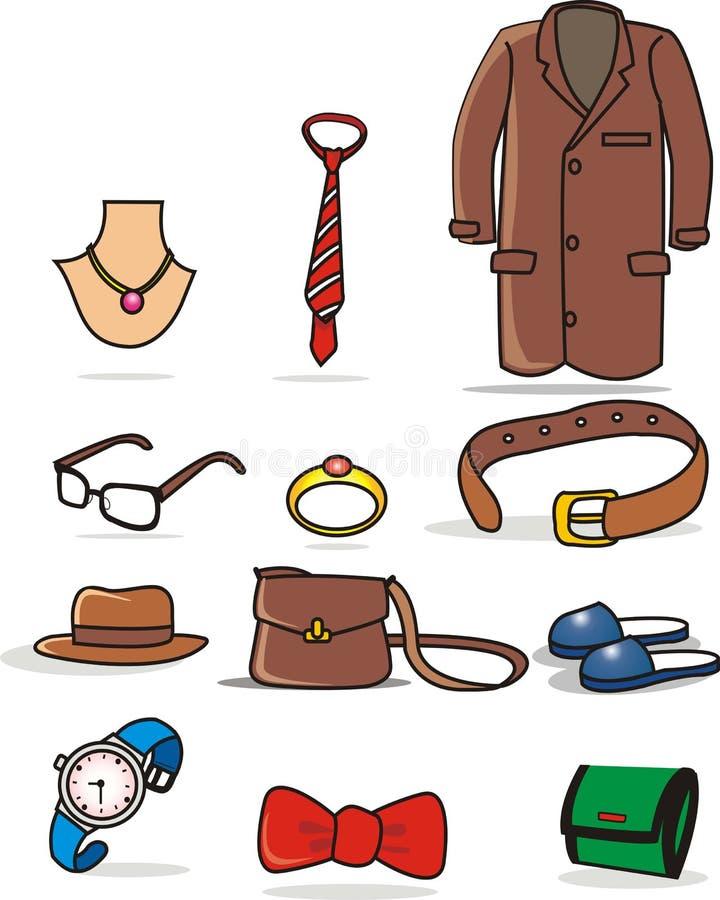 clothing för tillbehör vektor illustrationer