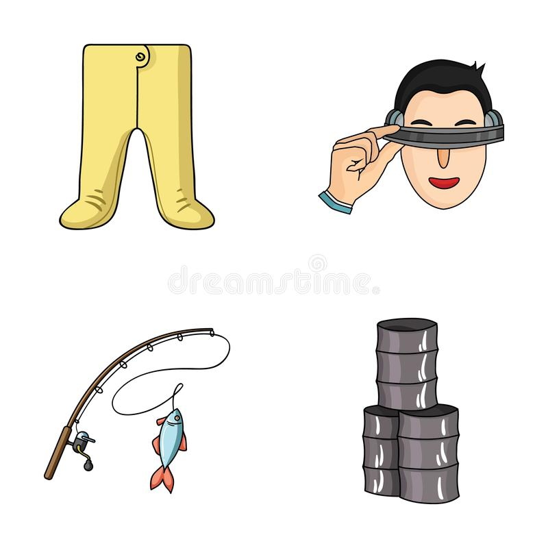 Clothing, fishing and other web icon in cartoon style.technology, oil icons in set collection. Clothing, fishing and other icon in cartoon style.technology, oil vector illustration