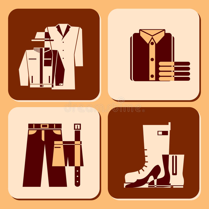 Download Clothing icons stock vector. Illustration of style, coat - 22931507