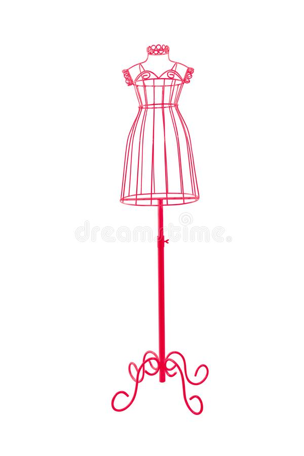 Clothing mannequin display woman and girl isolated on white back royalty free illustration