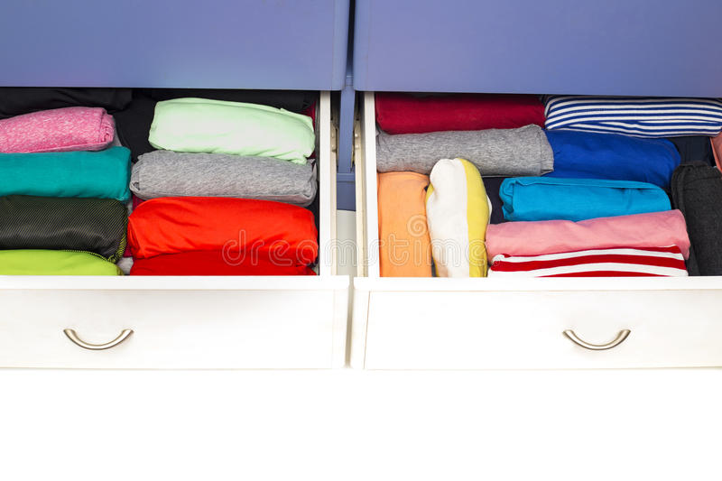 The Drawer With Underwear In The Closet Stock Photo