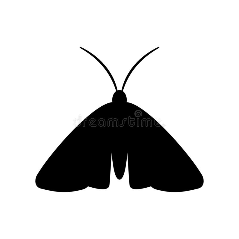 Moth Insect Silhouette Stock Illustration. Illustration Of