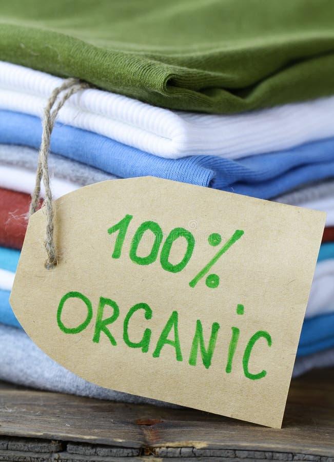 clothing organisk bunt för etikett arkivfoton