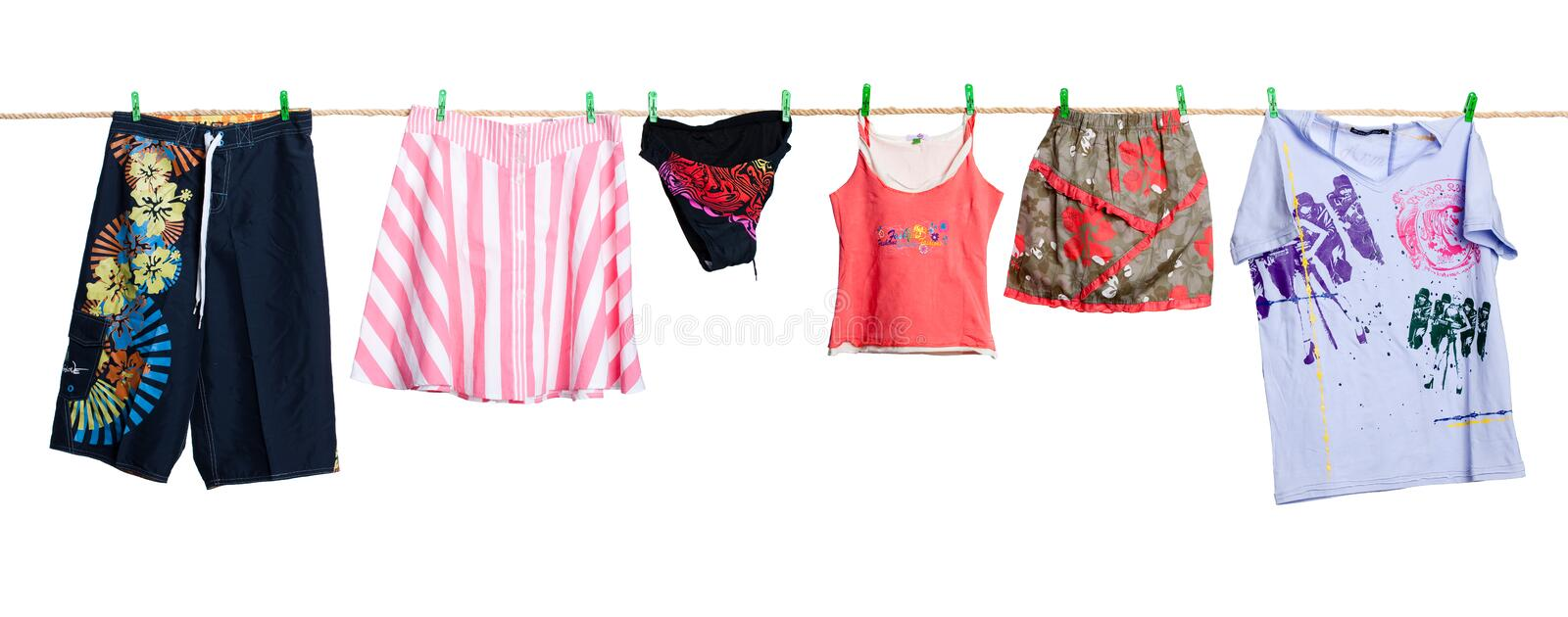 Clothing On The Rope stock photo