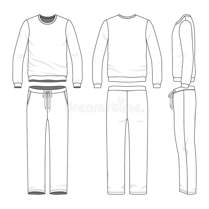 Clothing set of sweat suit. stock illustration