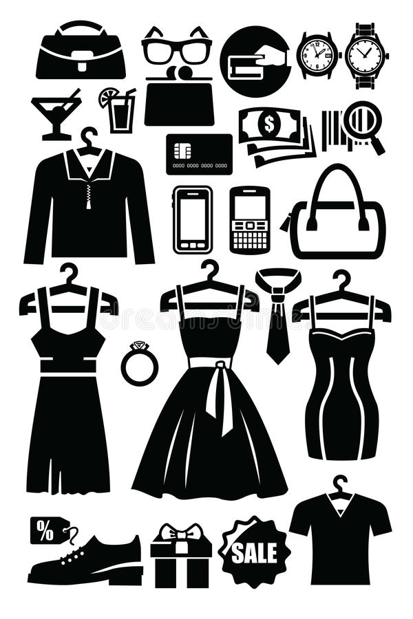 Download Phone icons stock illustration. Image of silhouette, classic - 29048157