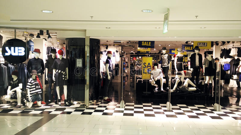 Clothing shop royalty free stock images