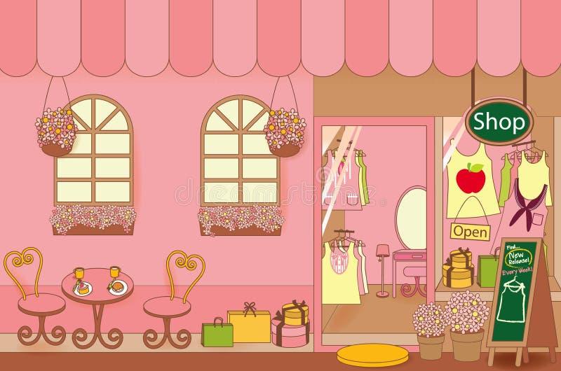 Clothing Shop. Vector File EPS10 stock illustration