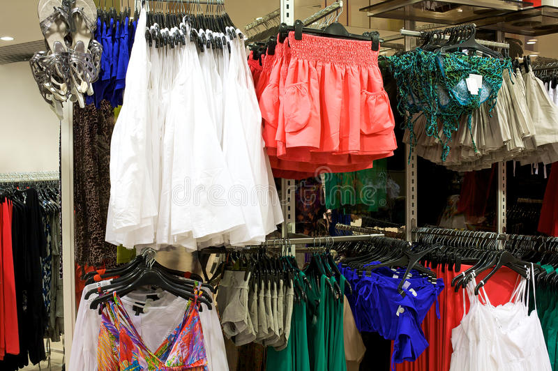 Clothing store stock photography