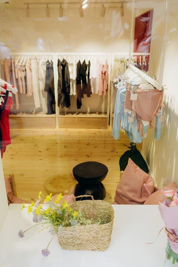 Clothing store boutique fashion shopping sale collection. Clothing store boutique fashion stuff shopping sale collection, bag, beautiful royalty free stock image
