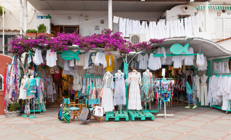 Clothing Store Made In Italy In Positano Editorial