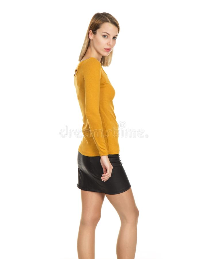 Clothing, Yellow, Fashion Model, Shoulder stock photography