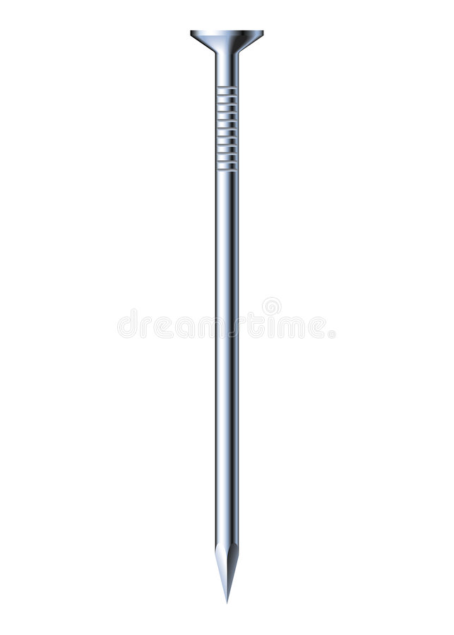 Clou en métal illustration stock