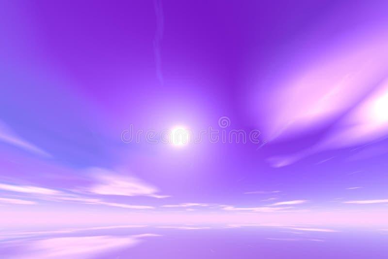 cloud świeciło krajobrazu ilustracji
