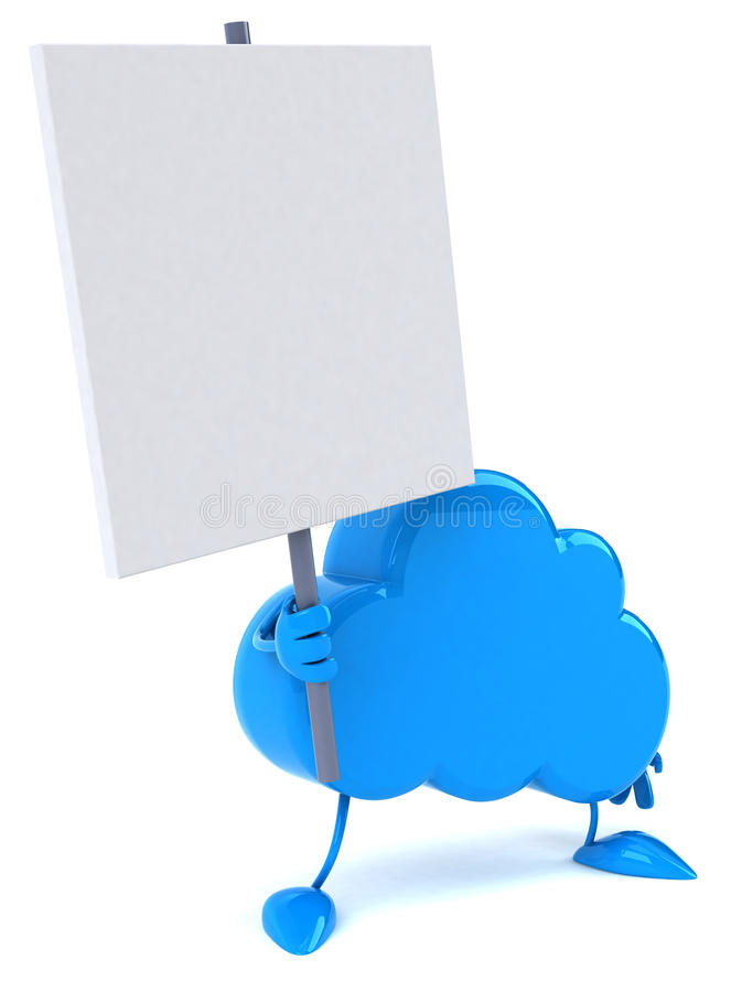 Download Cloud stock illustration. Image of computer, design, certificate - 24017857