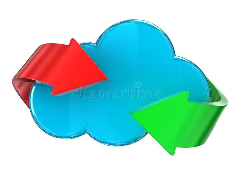 Download Cloud stock illustration. Image of symbol, data, isolated - 26904023