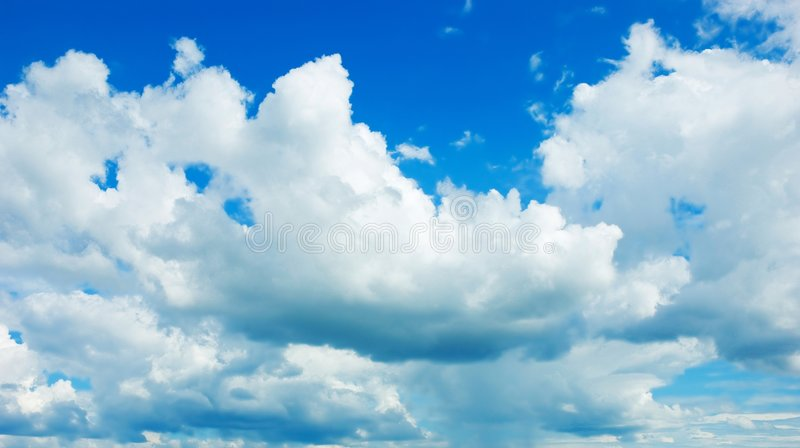 Cloud. The cloud with blove sky . shoot it on a fine day stock images