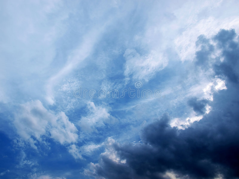 Download Cloud stock photo. Image of dark, blue, summer, white - 5665796