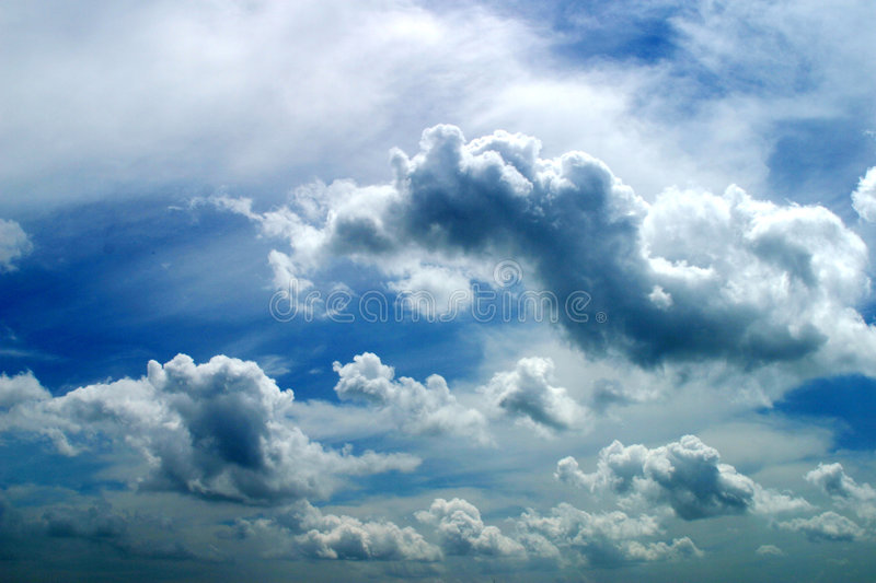 Cloud. Blue cloud on the sky royalty free stock photography