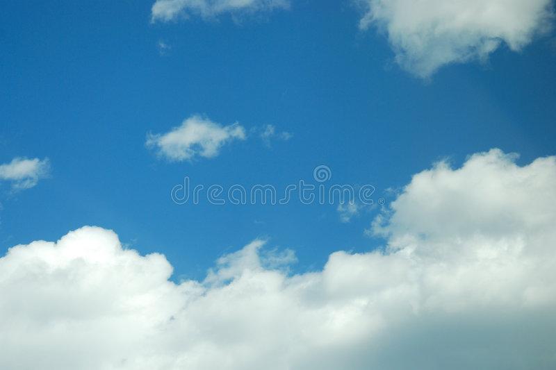 Cloud. White cloud and blue color day royalty free stock photography