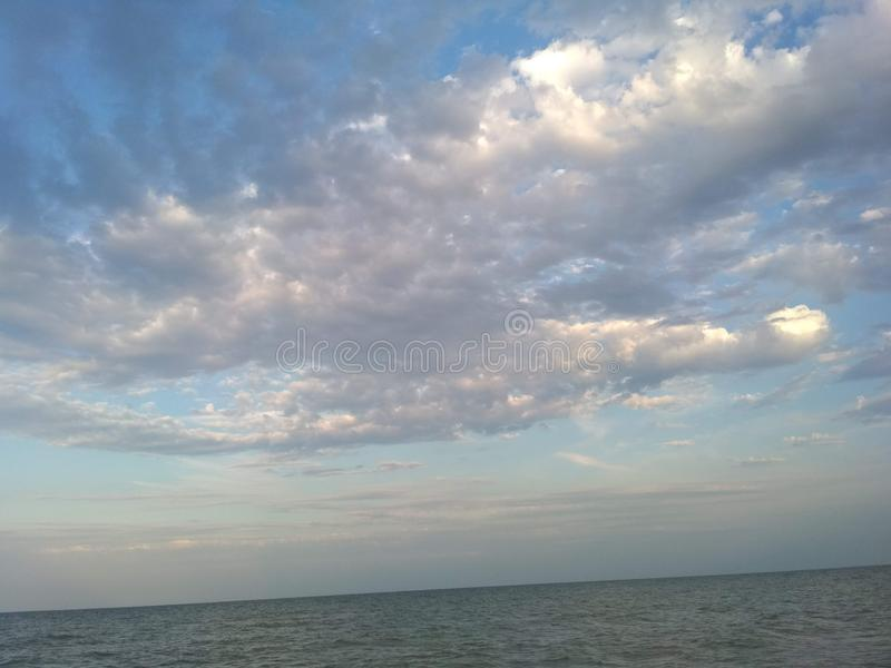 cloud above the Sea of Azov royalty free stock photo