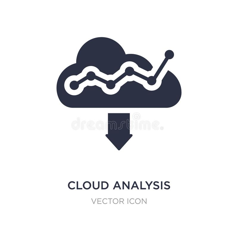 cloud analysis icon on white background. Simple element illustration from Technology concept stock illustration