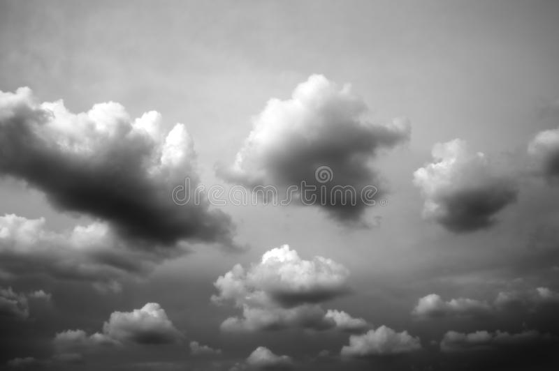 Cloud background black and white. stock photos