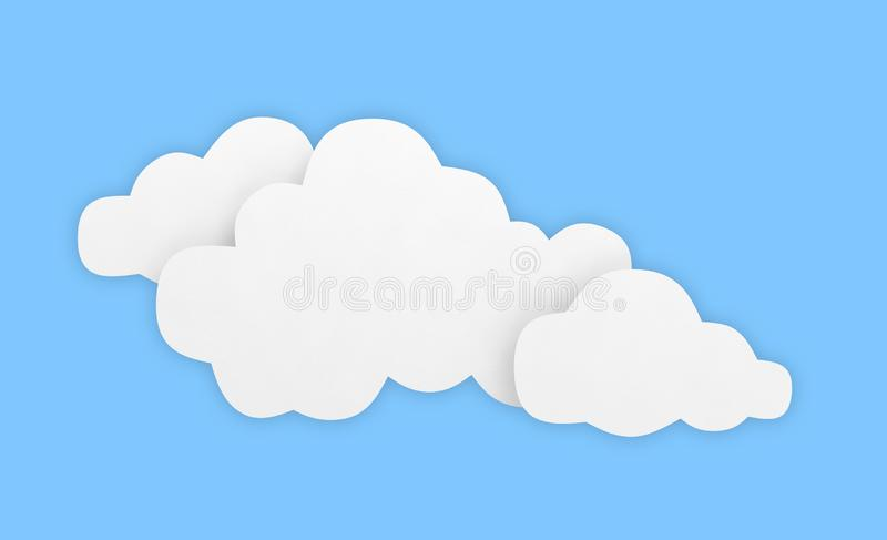 Cloud background sky blue white empty royalty free stock image