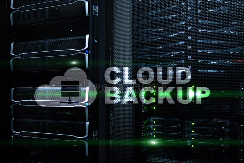 Cloud backup. Server data loss prevention. Cyber security stock illustration
