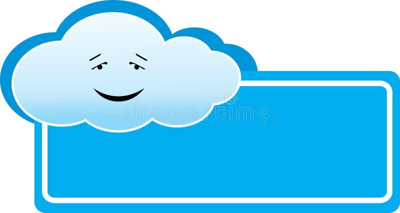 Cloud banner royalty free illustration
