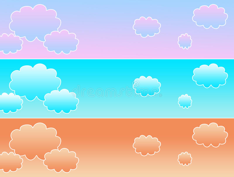 Cloud banner stock photography