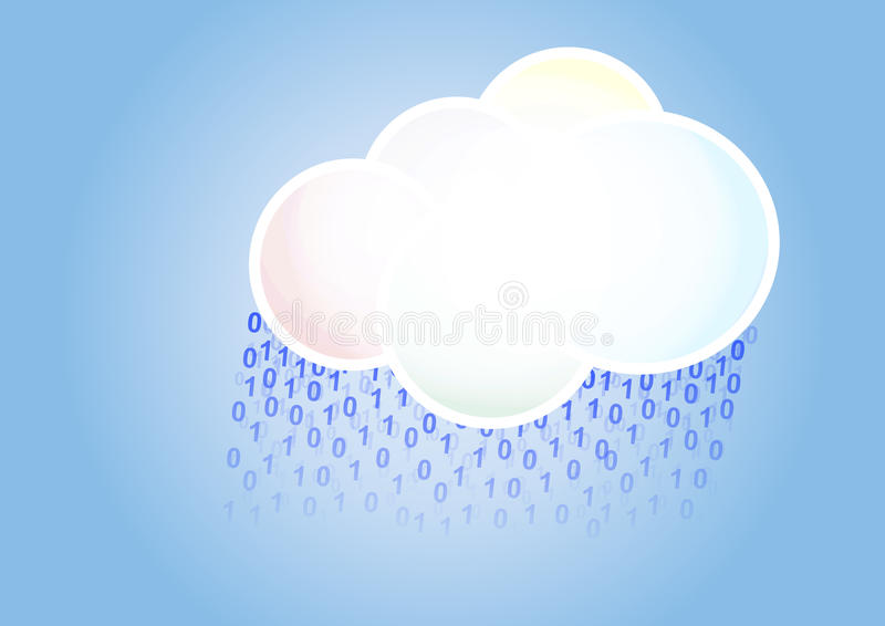 Download Cloud binary rain stock vector. Image of computing, weather - 29006993