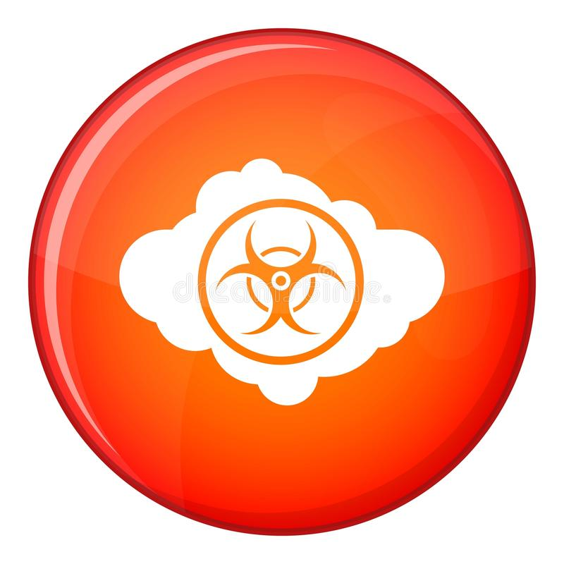 Cloud With Biohazard Symbol Icon Flat Style Stock Vector