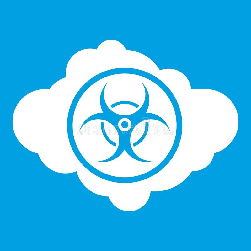 Cloud With Biohazard Symbol Icon White Stock Vector Illustration