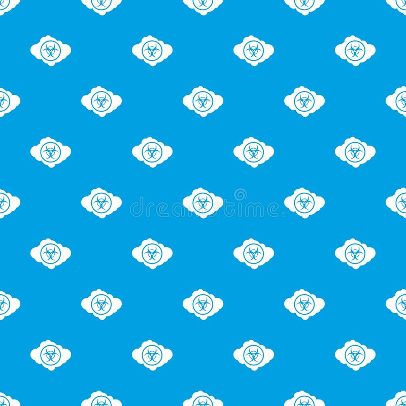 Cloud With Biohazard Symbol Pattern Seamless Blue Stock Vector