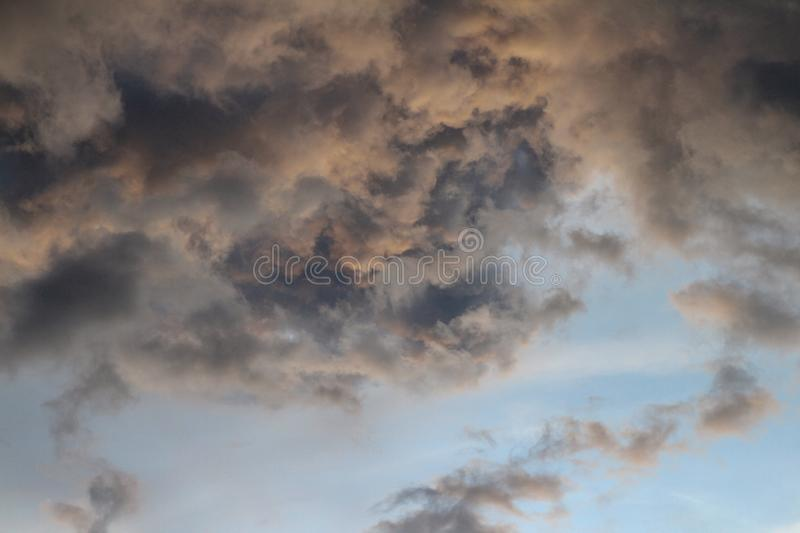 The cloud black before storm in thailand stock photography