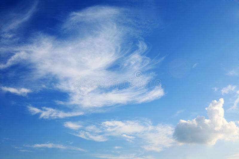 Cloud with blue sky. Abstract cloud with blue sky royalty free stock photo